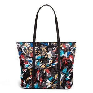 Vera Bradley Trimmed Vera Tote Bag Splash Floral